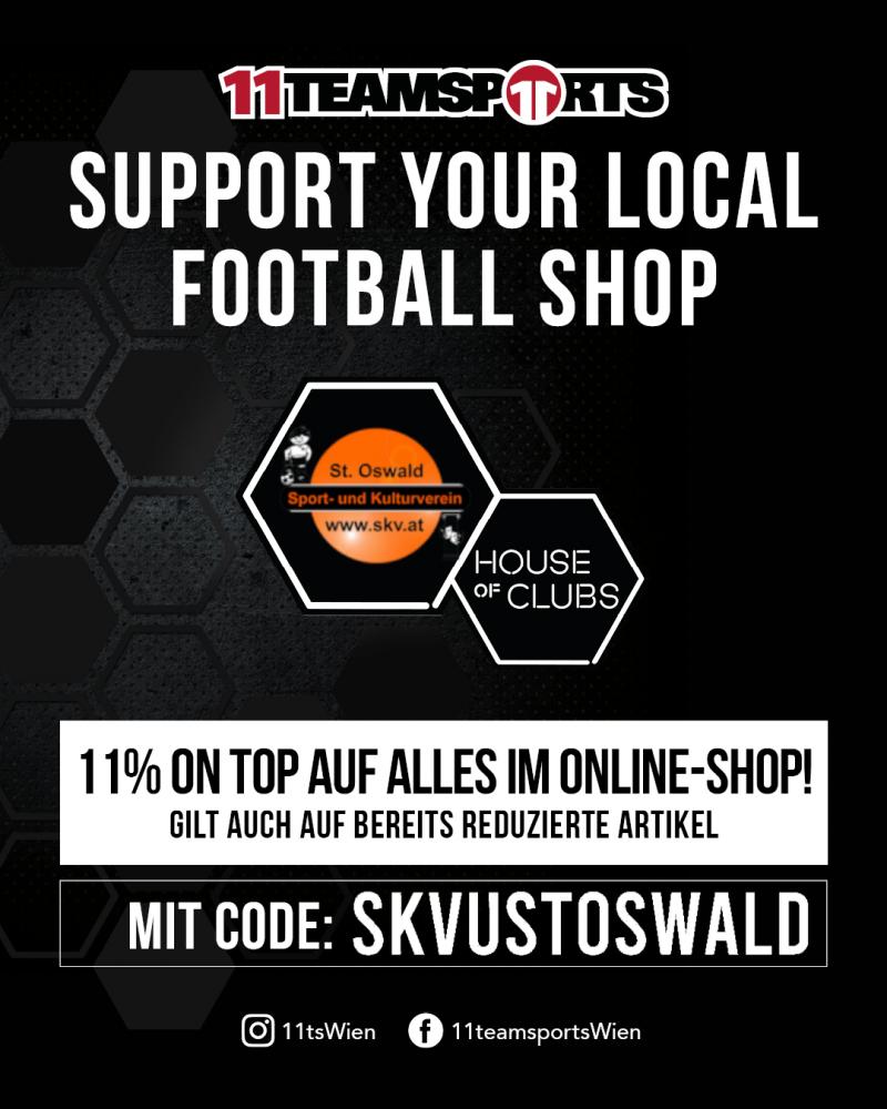11teamsports-Aktion für SKVU St. Oswald